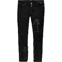 Design Forum – Schwarze Patchwork-Jeans