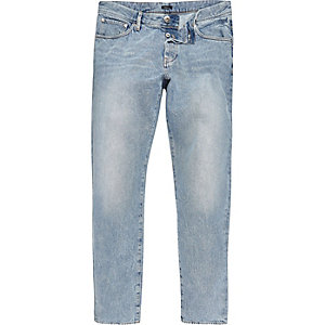 Design Forum blauwe acid wash jeans