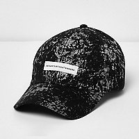 Black paint splatter badge cap