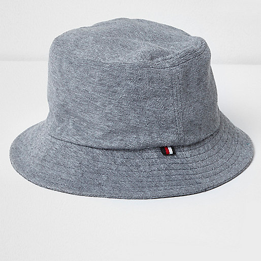 Grey towelling bucket hat