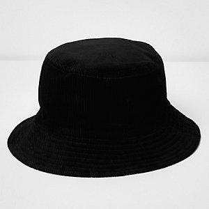 Chapeau en velours réversible noir