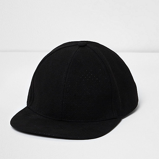 Black flat peak hat