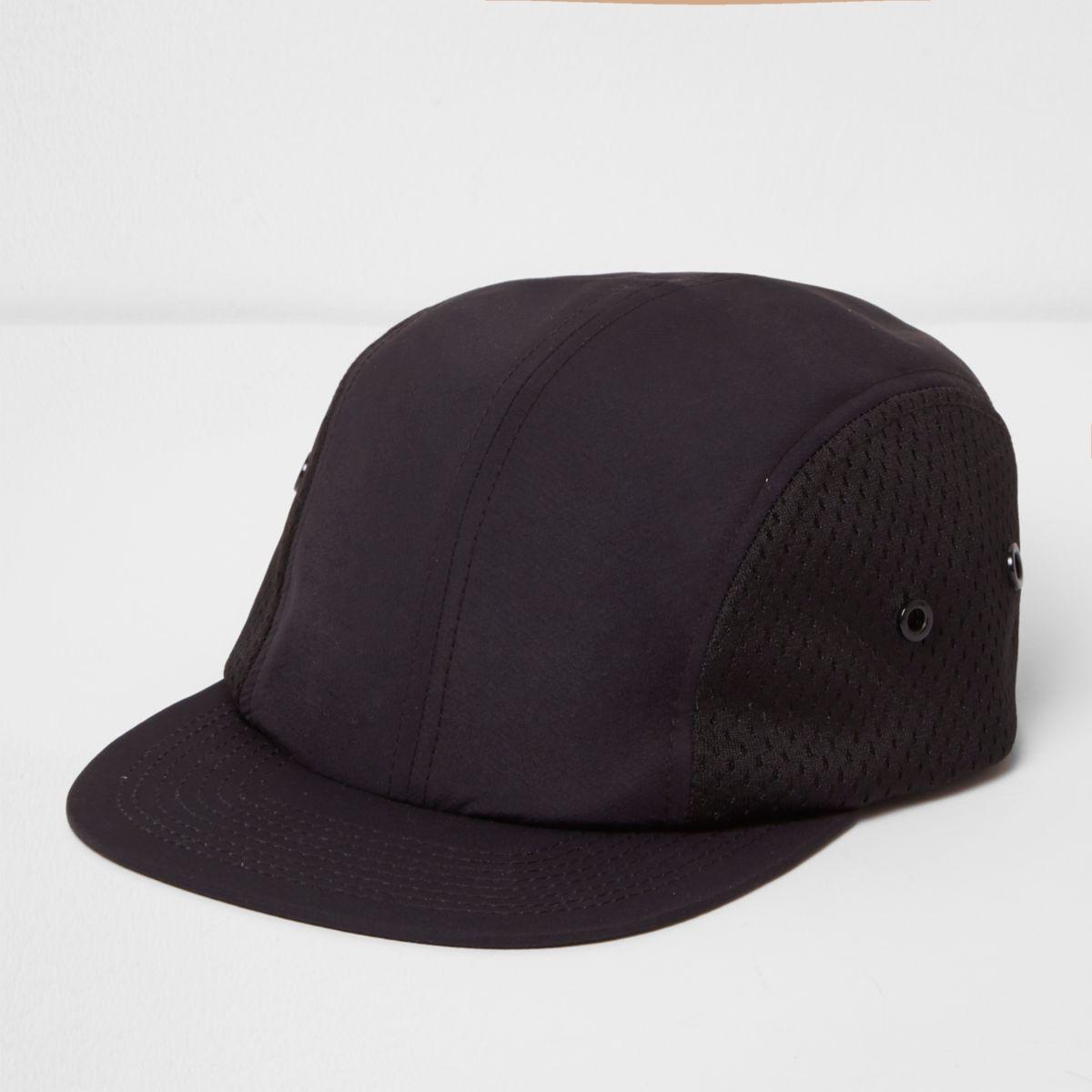 Black perforated mesh cap