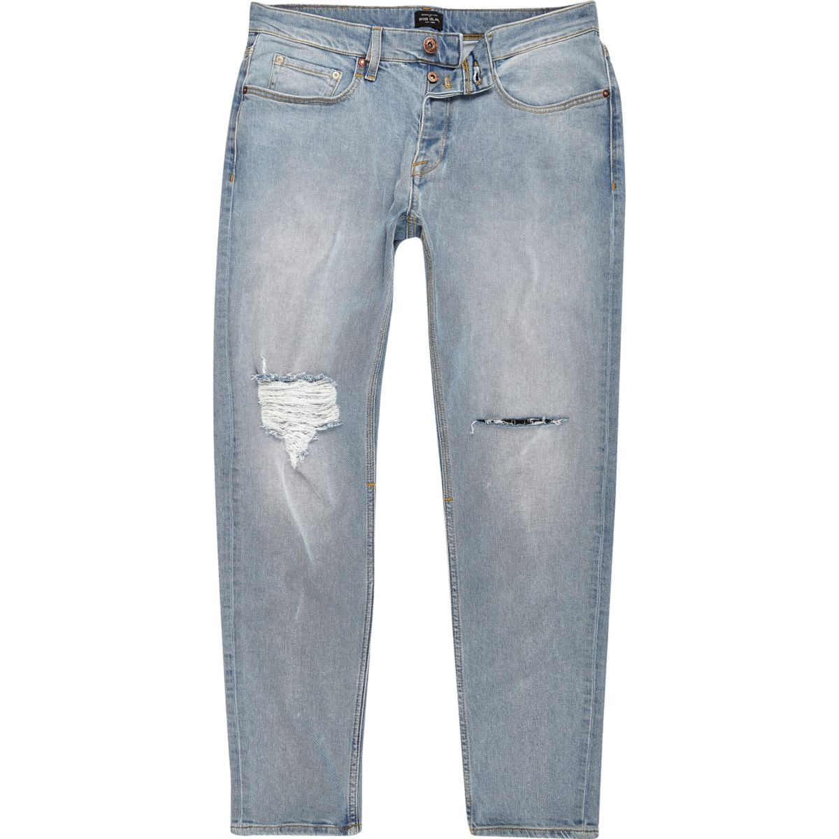 Light blue ripped slim tapered Jimmy jeans