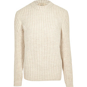 Cream chunky knit sweater