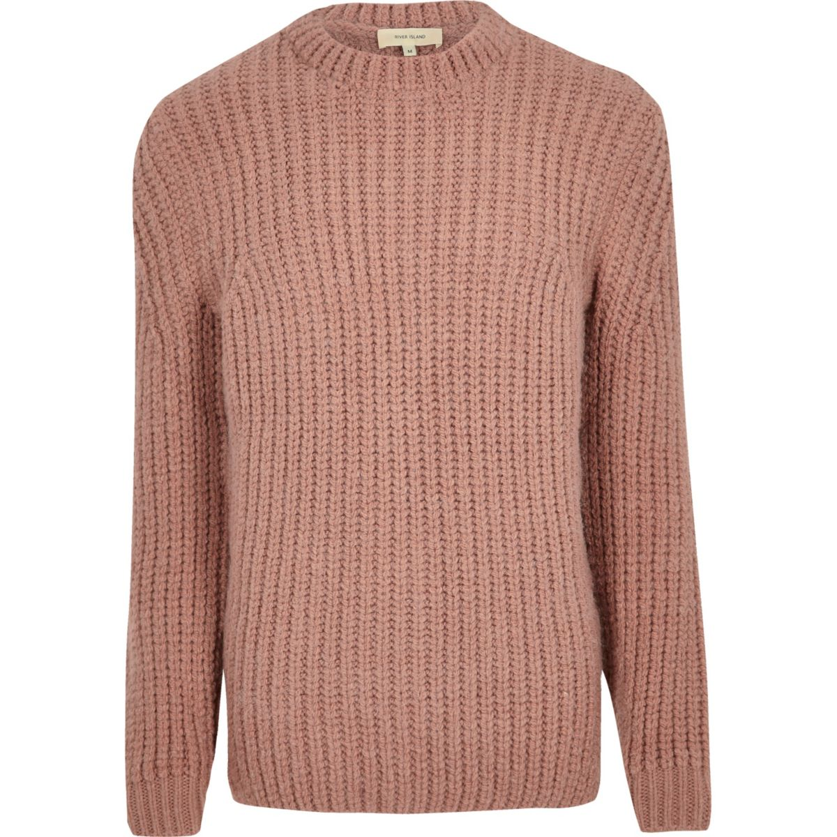 Pink chunky knit jumper - Jumpers & Cardigans - Sale - men