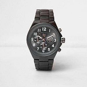 Massief metaalgrijs horloge