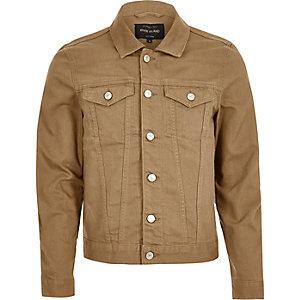 Veste en jean marron clair
