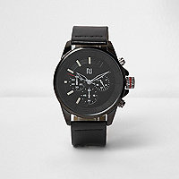 Black sports watch