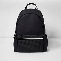 Schwarzer, strukturierter Rucksack