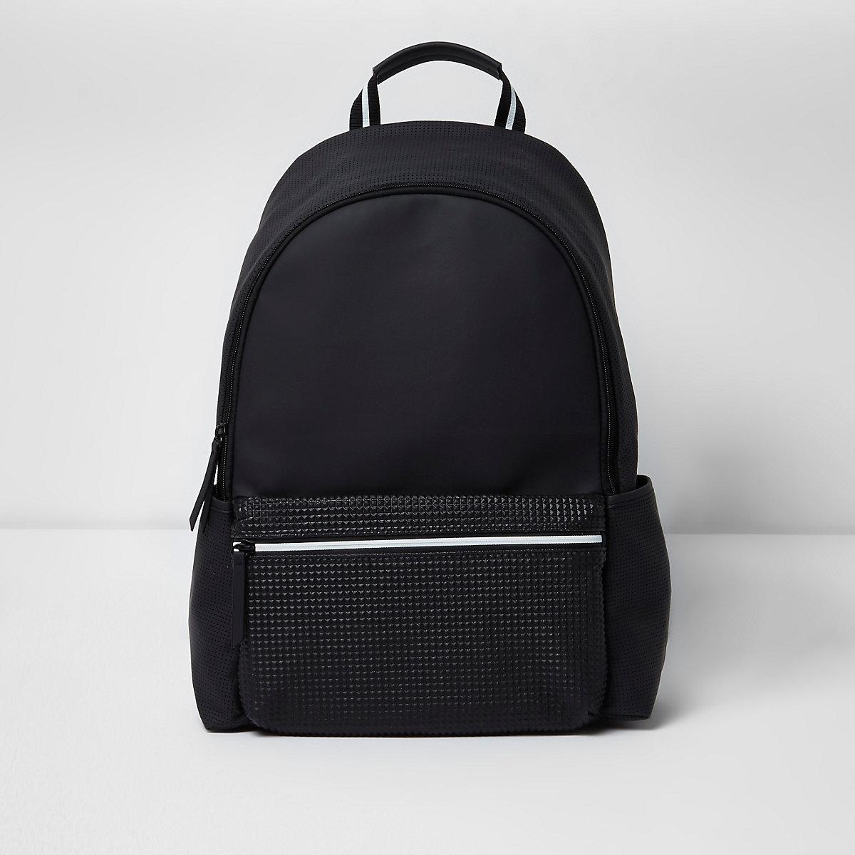 9e8c6913941a Black textured pocket backpack - Backpacks   Rucksacks - Bags - men