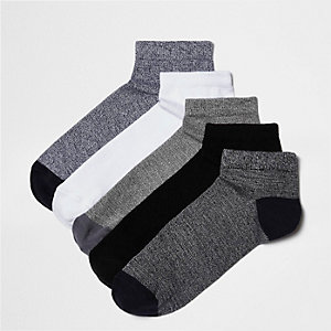 Blue and white socks five pack