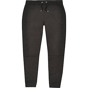 Pantalon de jogging noir avec empiècement texturé