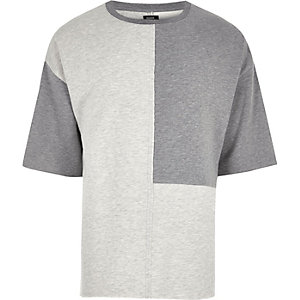 Grey Design Forum colour block T-shirt