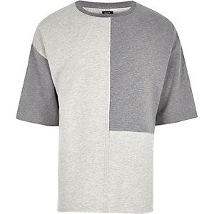 T-shirt Design Forum gris effet colour block