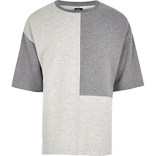 Grey Design Forum colour block T-shirt