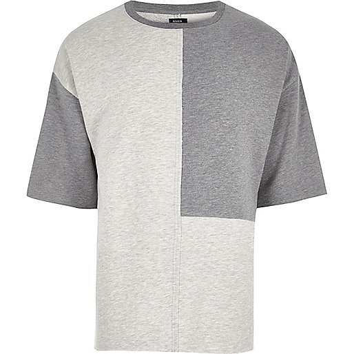 Grey Design Forum color block T-shirt