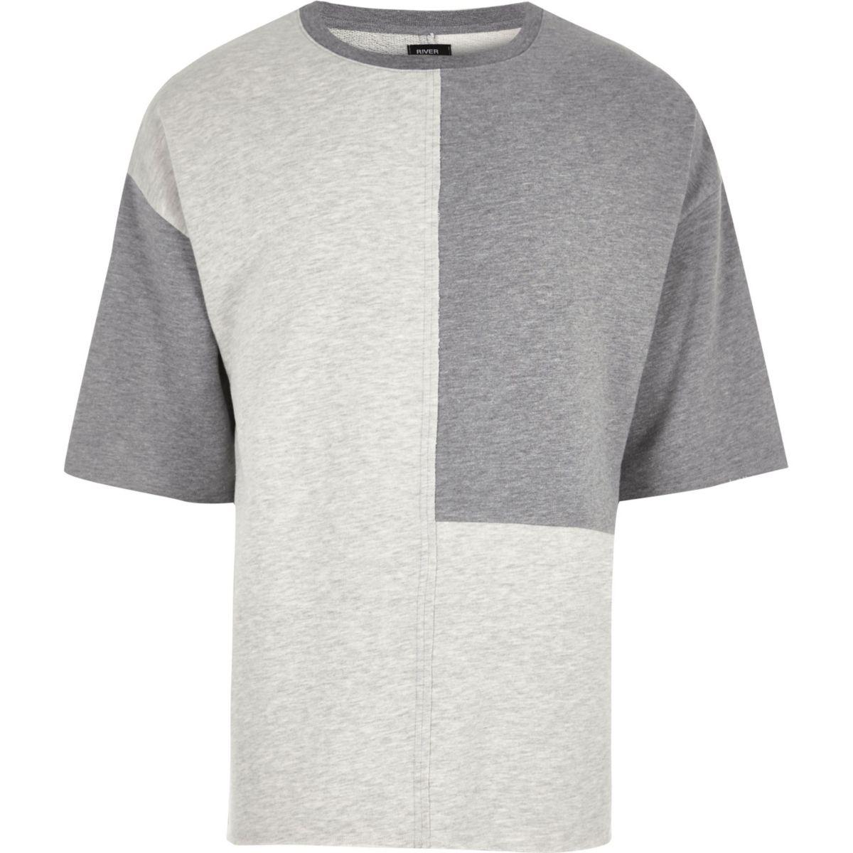 Grey Design Forum color block T-shirt