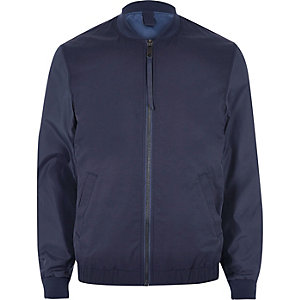 Navy casual bomber jacket