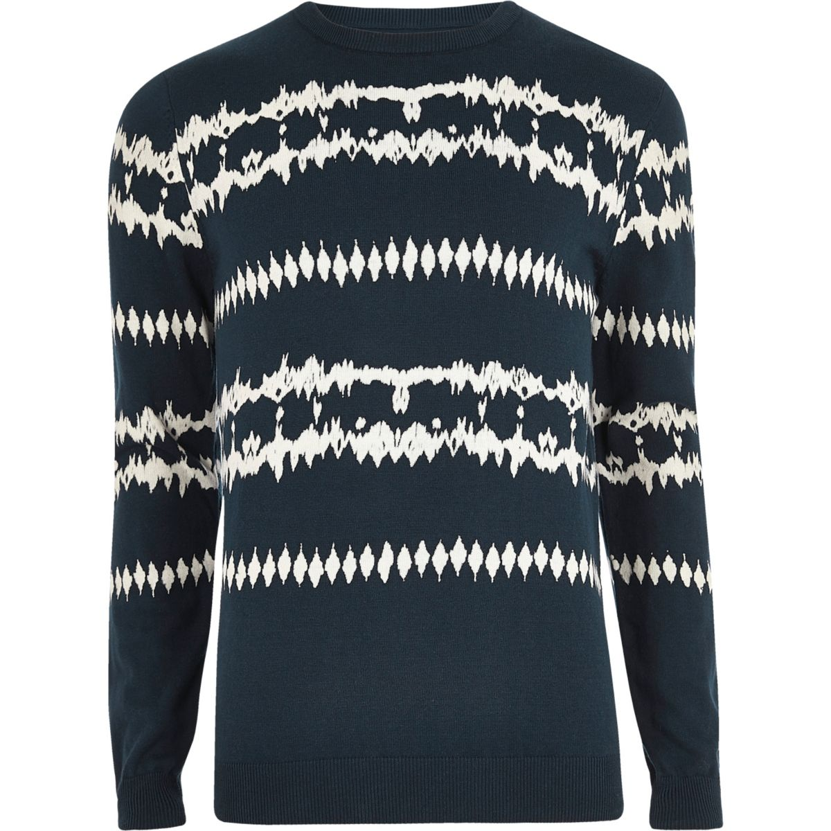 Dark blue aztec tie dye sweater