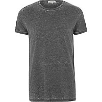 Grey burnout T-shirt