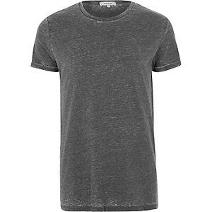 T-shirt gris effet burnout
