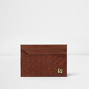 Brown lattice panel card holder