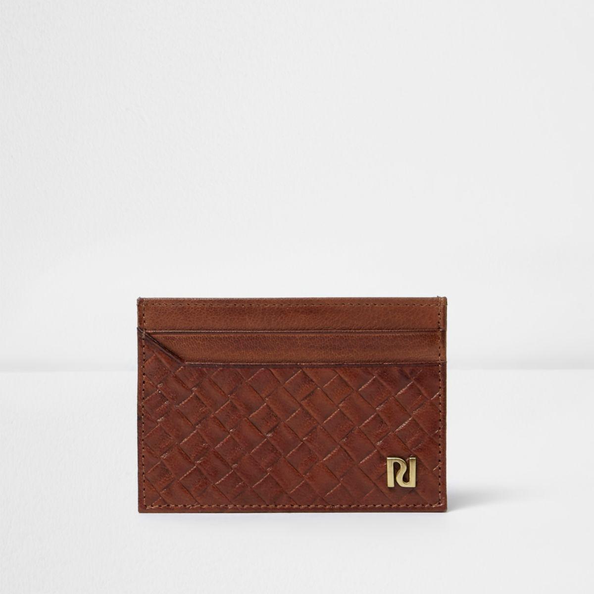 Brown lattice panel card holder