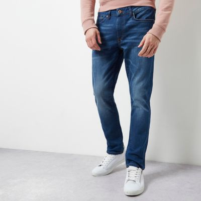 Dylan Donkerblauwe slim-fit jeans