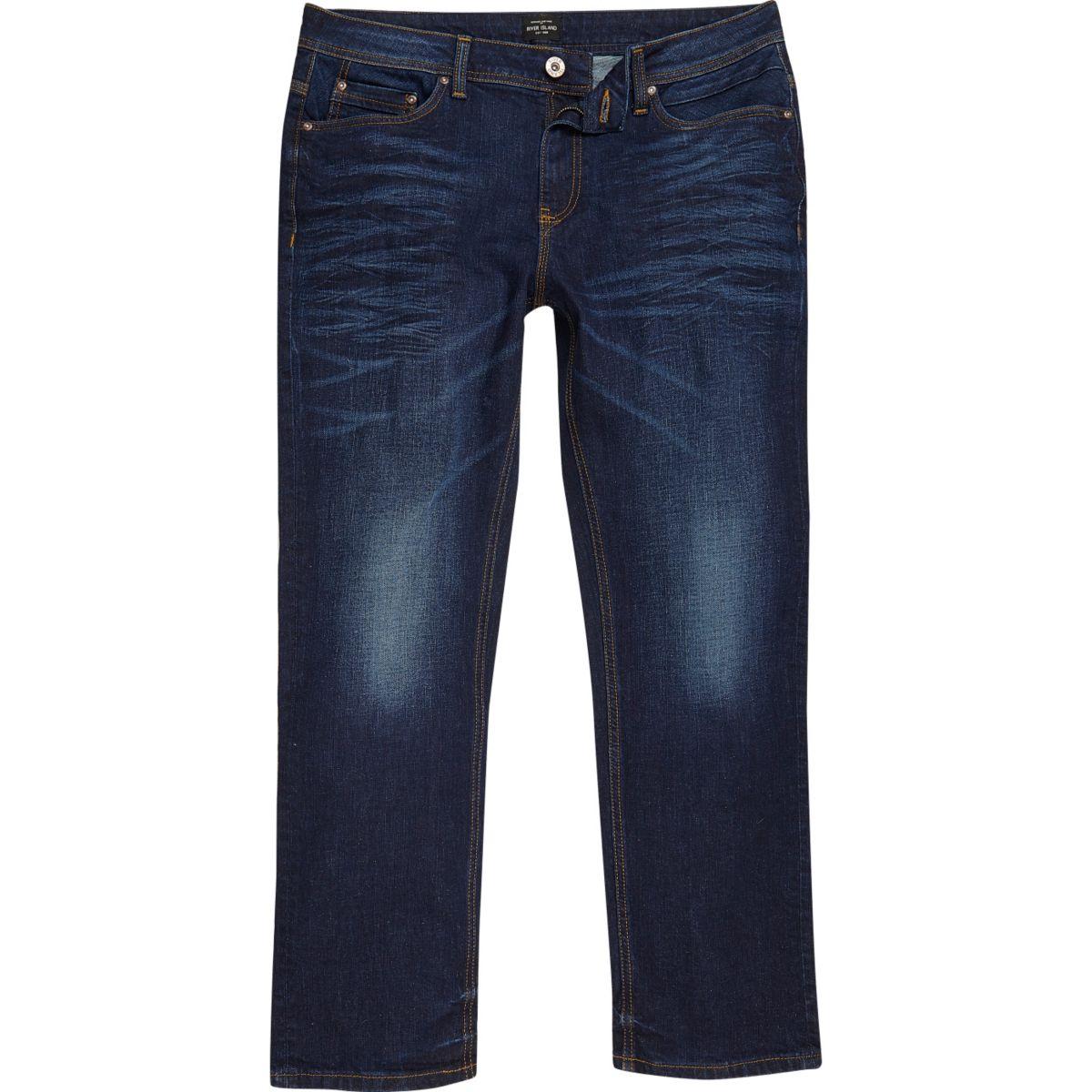 Dark blue wash Dean straight leg jeans