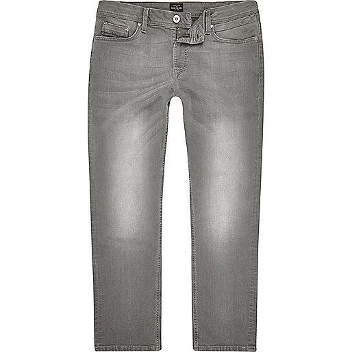 Grey Dean straight leg jeans