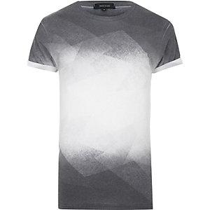Zwart T-shirt met vervaagde print
