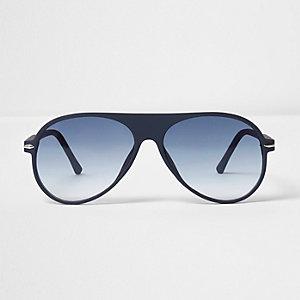 Blaue, gummierte Pilotensonnenbrille