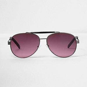 Lunettes de soleil aviateur violettes