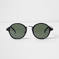 Schwarze runde Sonnenbrille
