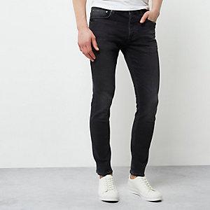 Sid - Zwarte vervaagde skinny-fit jeans