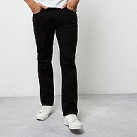 Black wash Dean straight leg jeans