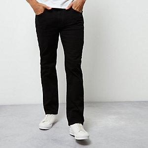 Dean - Zwarte wash jeans met rechte pijpen