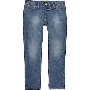 Dean – Straight Leg Jeans in mittelblauer Waschung
