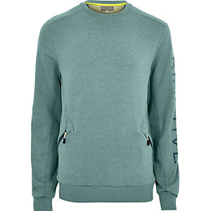 RI Active teal crew neck sweatshirt