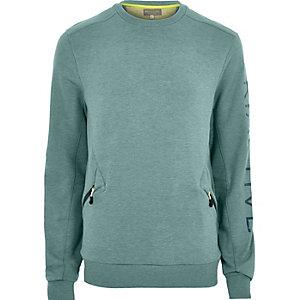 RI Active blauwgroen sweatshirt met ronde hals