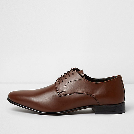 Brown leather smart shoes