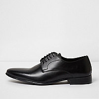 Black leather smart shoes