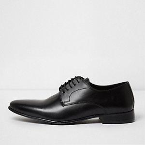 Black leather smart shoes