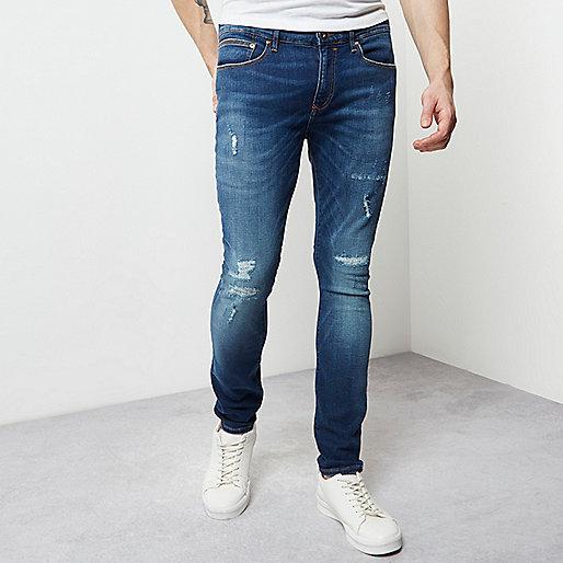 Blue wash fade super skinny Danny jeans