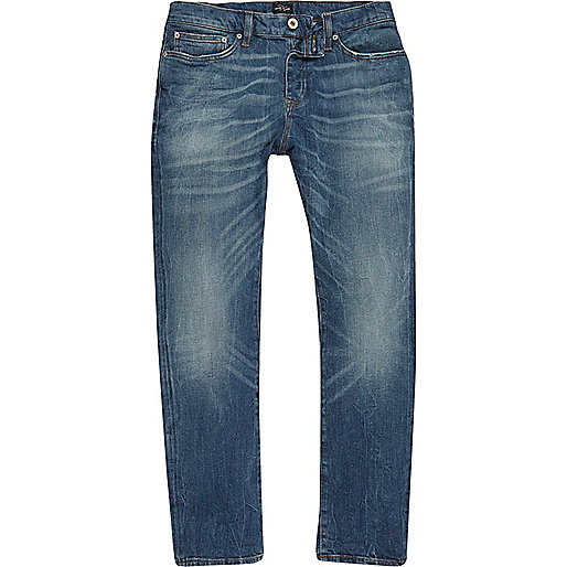 Mid blue wash classic Dylan slim fit jeans