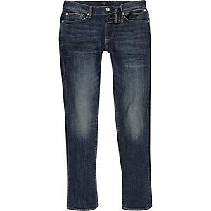 Dark blue wash skinny Sid jeans