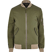 Big and Tall khaki green bomber jacket