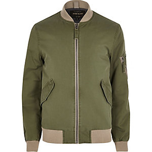 Big & Tall – Bomberjacke in Khaki