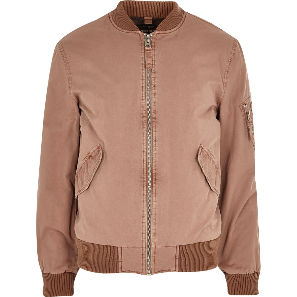 Pink Bomber Jacket by River Island